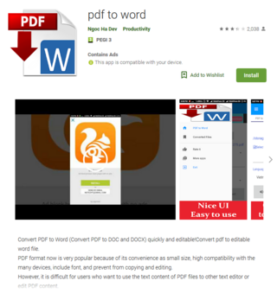 Приложение PDF to Word